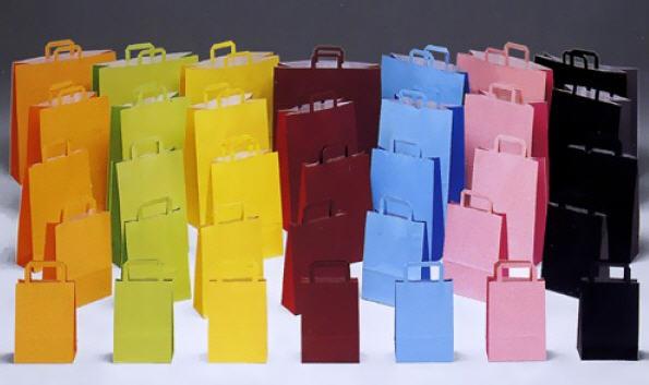 לקנות Bicolore Maniglia piatta שקיות נייר