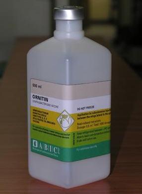 לקנות Ornithobacterium Rhinotracheale Serotypes 0, 3, 31, Strains A, B, C Inactivated, water-in-oil vaccine