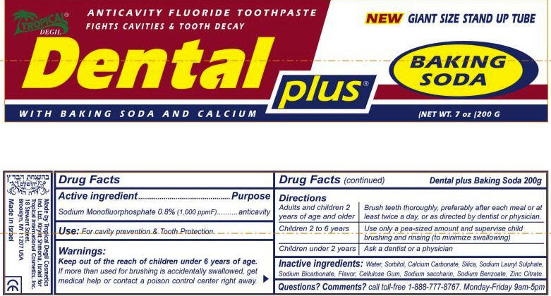 משחת שינייםDental Plus Tropical Degil