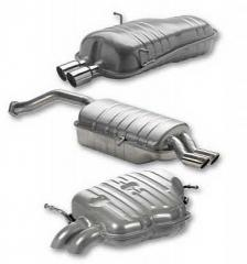 Mufflers for automobiles