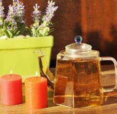 Hexagon  Blooming Tea Art Tea