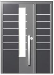 דלת כניסה מברזל דגם טורונטו - כנף וחצי