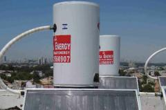 Solar water heater system with one panel