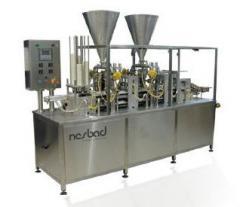 מכונה קווית אוטומטית למילוי והלחמת גביעים / מגשים  Streamer