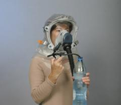 Face shields protecting from the gases and toxic
