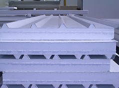 Polystyrene filled roof panel