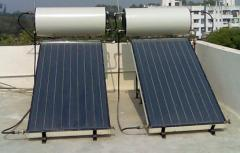 Solar and electric water heaters