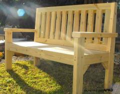 ספסל מעץ מלא