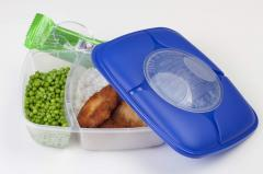Big Divided Lunch Box with Spoon & Fork