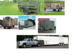 Command shelter and Trailers