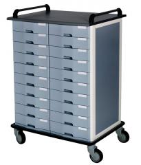 Trolley for 20 trolley medical files (2 columns).