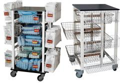 Sterile laundry storage trolley