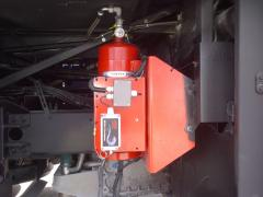Bus engine suppression system