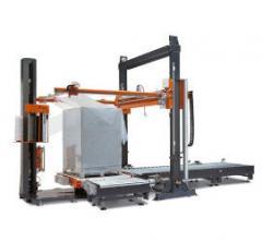 מכונת אריזה עם במה מסתובבת אוטומטית 90 מעלות עם
