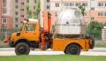 Retuning capsule lifting vehicle