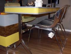 שולחן עבודה נירוסטה בשילוב עם עץ ריתוך