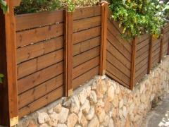 Деревянные заборы в израиле